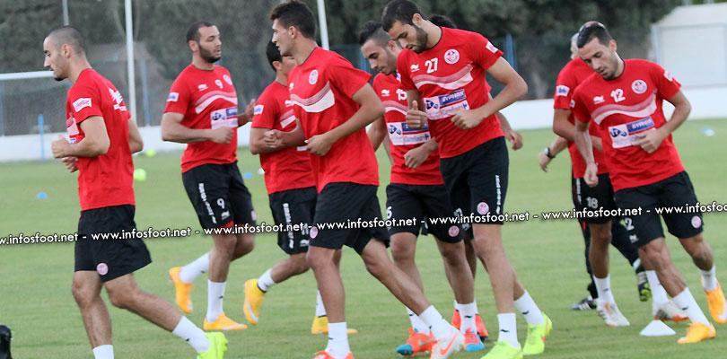 Entrainement de la sélection Tunisienne