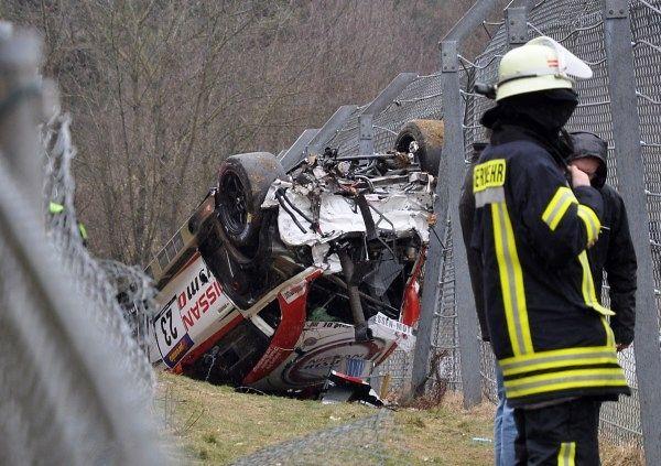 Accident de la Nissan GT-R de Jann Mardenborough
